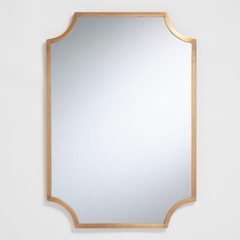 Brass Notched Mirror