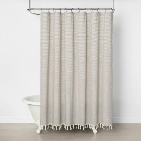 Railroad Stripe Shower Curtain
