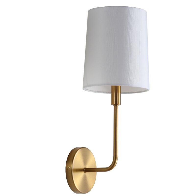 Brass Gold Carmack 1-Light Armed Sconce