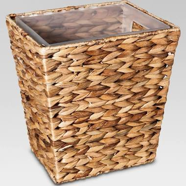 Wastebasket Light Weave Tan