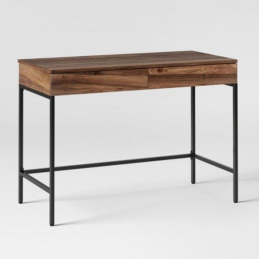 Loring Wood Writing Desk with Drawers