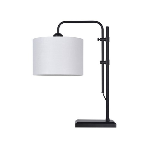 Knox Adjustable Shaded Table Lamp Black